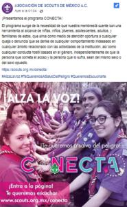 Unas horas antes de los Foros se presentó el programa CONECTA en Facebook.